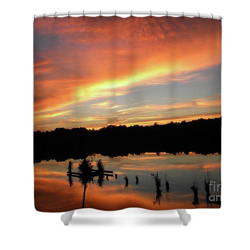 Sunset Shower Curtain featuring the photograph Windows From Heaven Sunset by Matthew Seufer