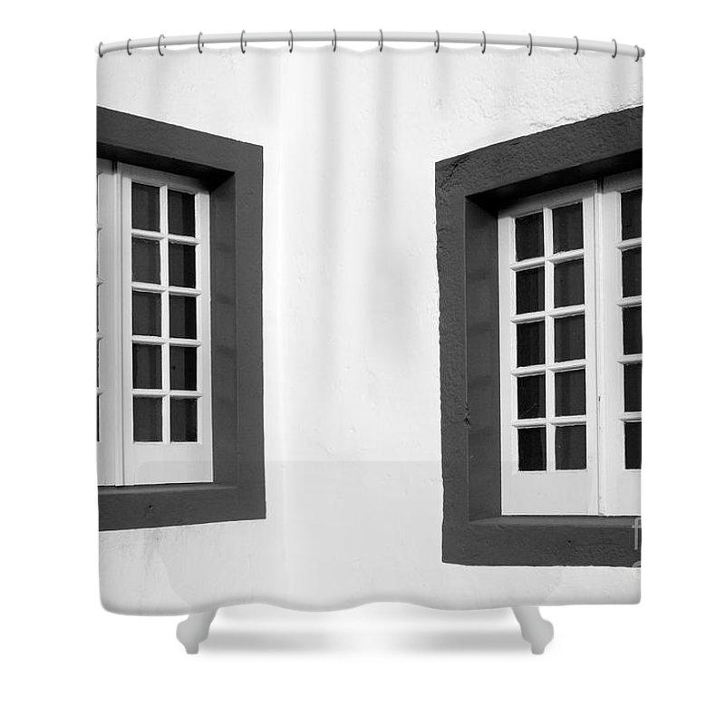Azores Shower Curtain featuring the photograph Windows by Gaspar Avila