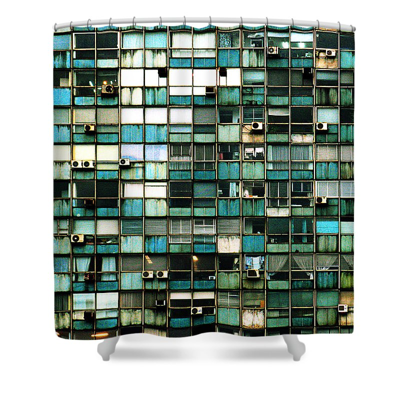 Buenos Aires Shower Curtain featuring the photograph Windows I by Osvaldo Hamer