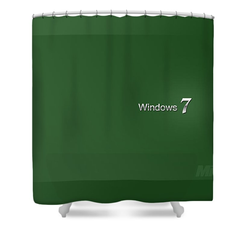 Windows Shower Curtain featuring the digital art Windows by Zia Low