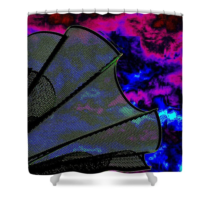 Wind Shower Curtain featuring the photograph Windy 2 by Tim Allen