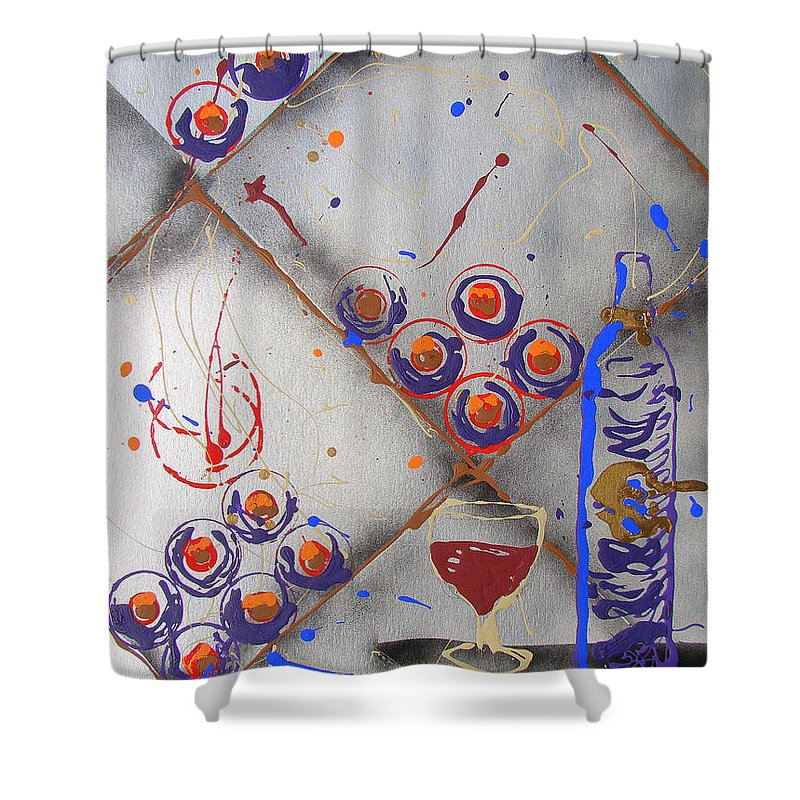 Wine Shower Curtain featuring the painting Wine Connoisseur by J R Seymour