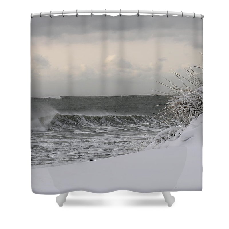 Ocean Shower Curtain featuring the photograph Winter Day by Richard Worthington