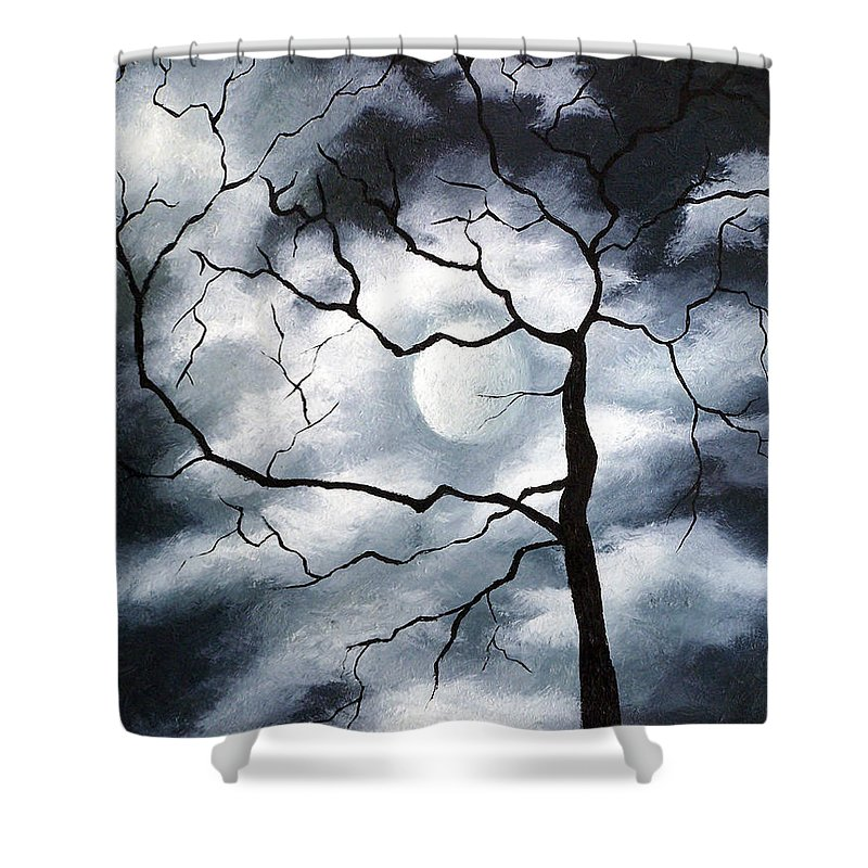 Winter Shower Curtain featuring the painting Winter Evening by Elizabeth Lisy Figueroa