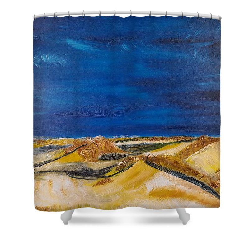 Island Shower Curtain featuring the painting Winter Impression Of Sylt by Valerie Ornstein