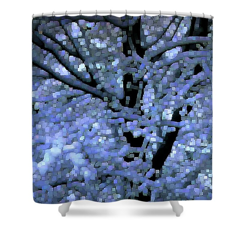 Abstract Shower Curtain featuring the digital art Winter Light by Dave Martsolf