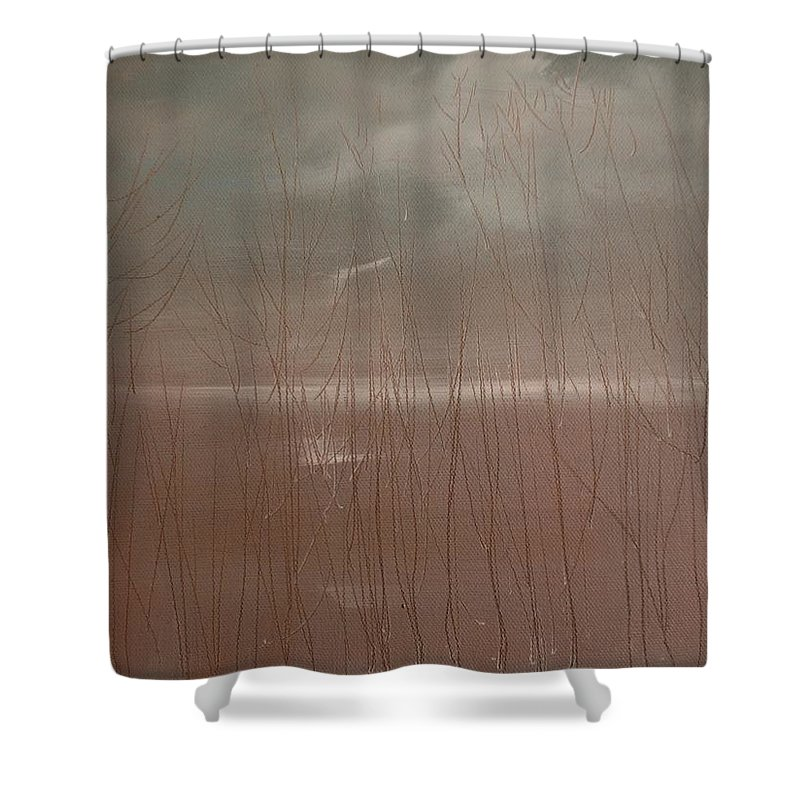 Dusk Shower Curtain featuring the painting Winter Of Hope by Jack Diamond