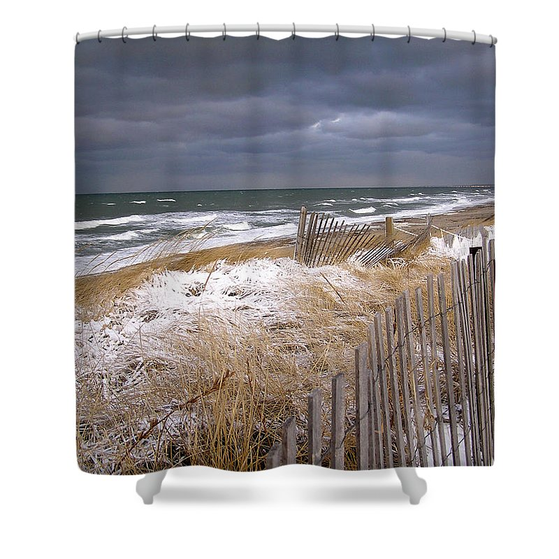 Cape Cod Shower Curtain featuring the photograph Winter On Cape Cod by Charles Harden