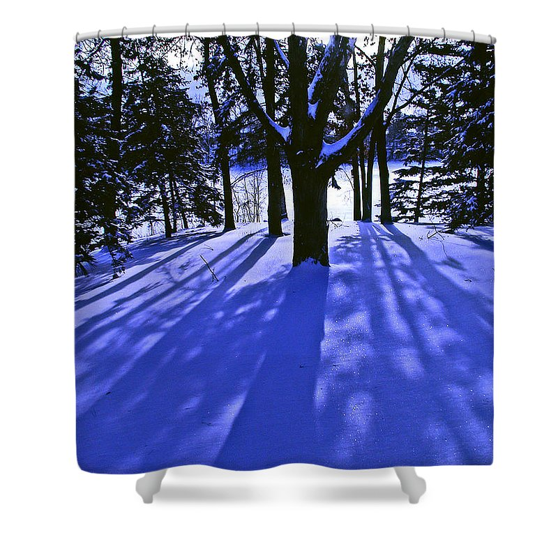 Landscape Shower Curtain featuring the photograph Winter Shadows by Tom Reynen