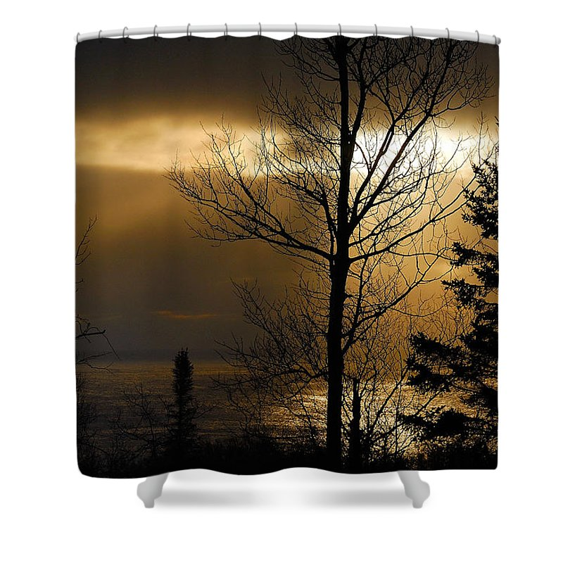 Nature Shower Curtain featuring the photograph Winter Sunrise 1 by Sebastian Musial