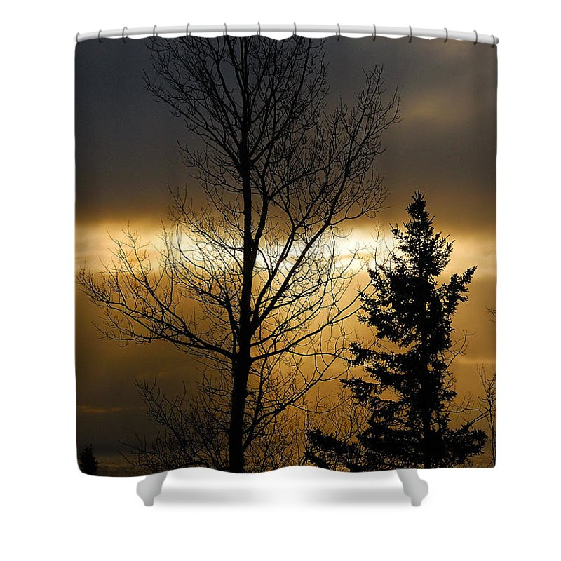 Nature Shower Curtain featuring the photograph Winter Sunrise 2 by Sebastian Musial