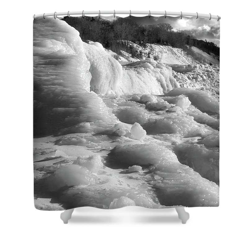 Photography Shower Curtain featuring the photograph Winter Texture by Frederic A Reinecke