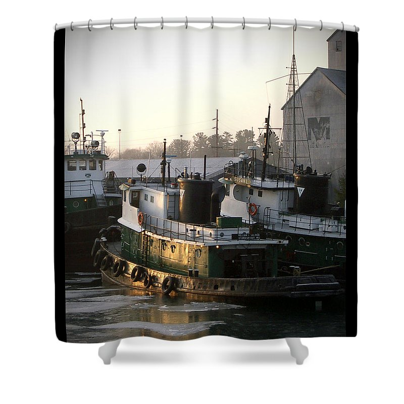 Tugs Shower Curtain featuring the photograph Winter Tugs by Tim Nyberg