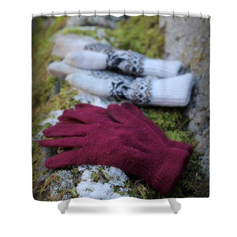 Ice Shower Curtain featuring the photograph Winter Warmth by Margre Flikweert
