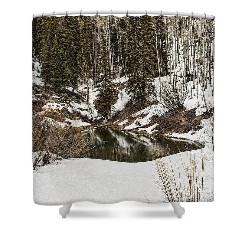 Pound Shower Curtain featuring the photograph Winters Pond by Steven Parker