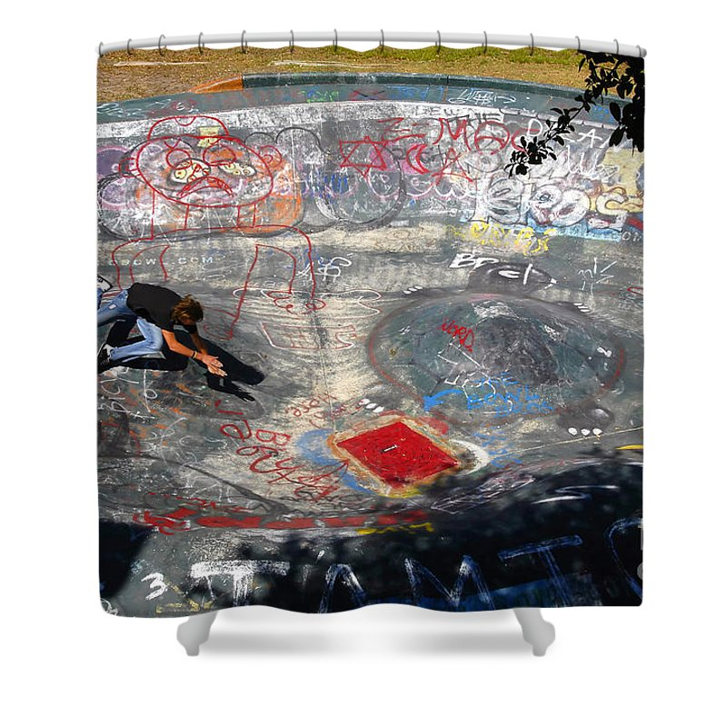 Falling Shower Curtain featuring the photograph Wipe-out by David Lee Thompson