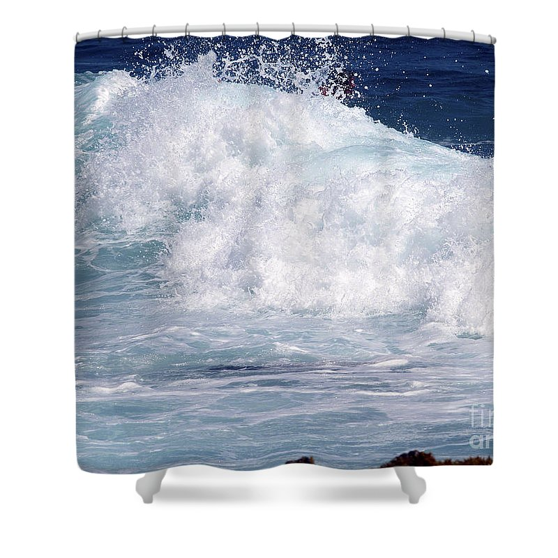Fine Art Photography Shower Curtain featuring the photograph Wipe-out by Patricia Griffin Brett