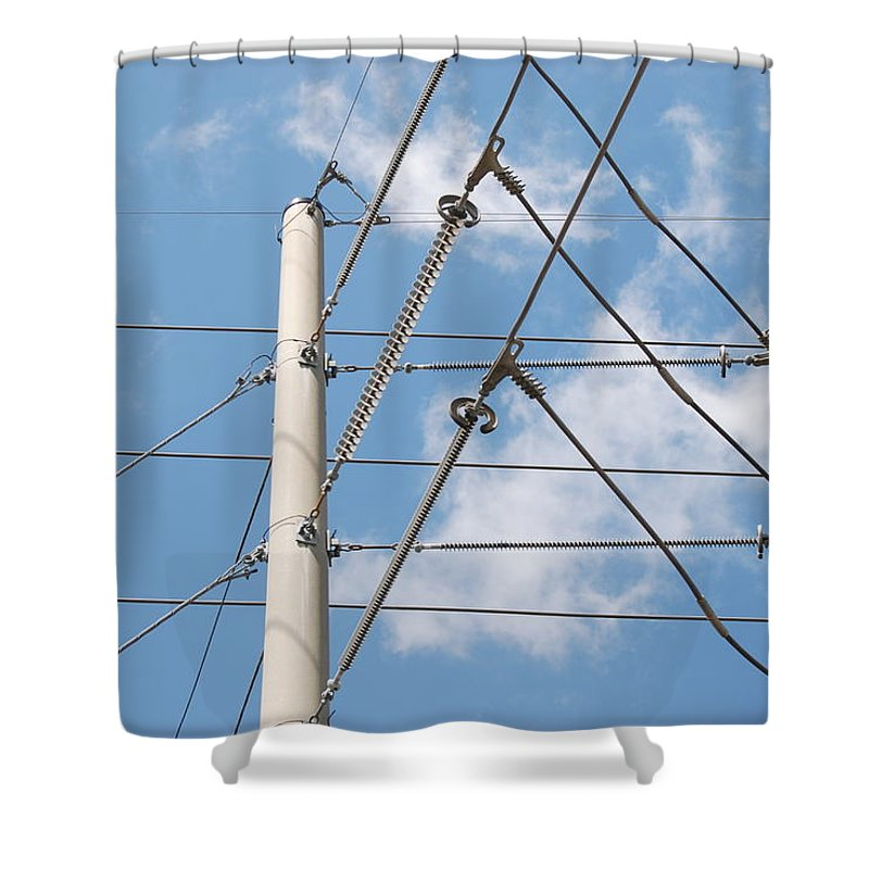 Sky Shower Curtain featuring the photograph Wired Sky by Rob Hans