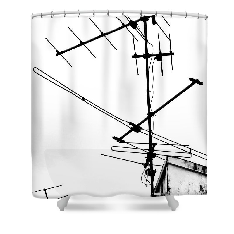 Wires Shower Curtain featuring the photograph Wired by Tara Turner