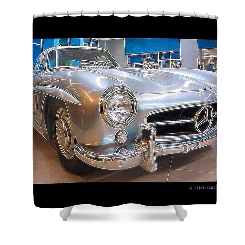 Keepaustinweird Shower Curtain featuring the photograph Wish This Was Mine. #😄#vintage by Austin Tuxedo Cat