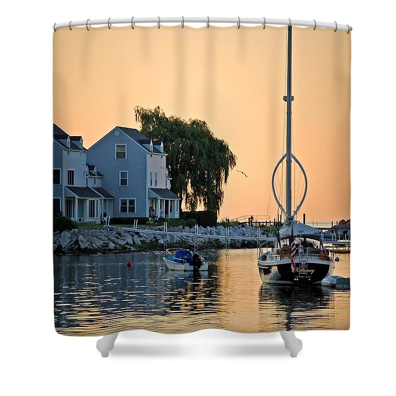 Pelican Shower Curtain featuring the photograph Wishbone Yacht by Michael Thomas