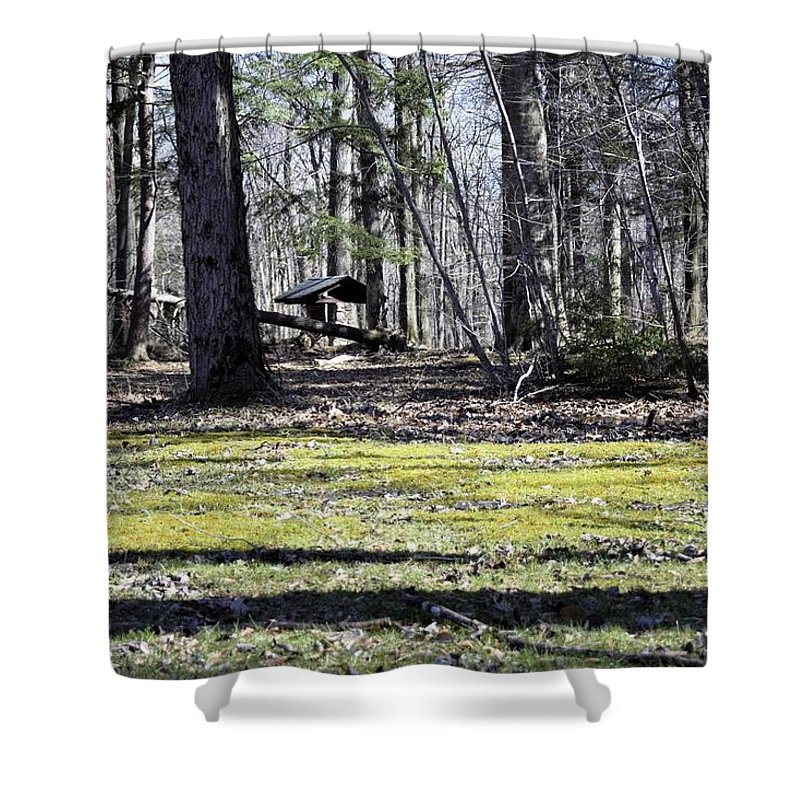 Park Shower Curtain featuring the photograph Wishing Well by Christina McNee-Geiger