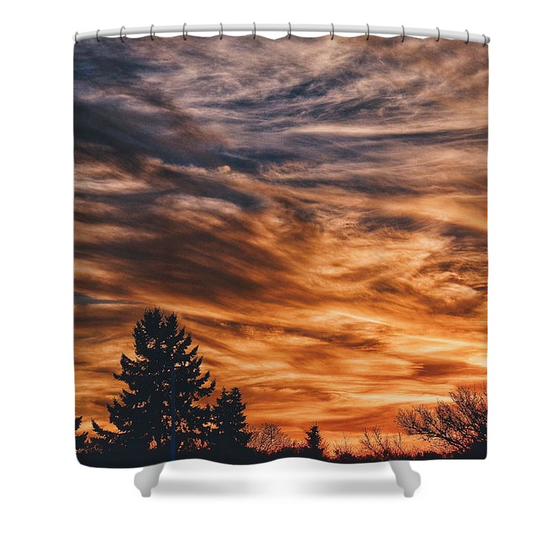 Sunset Shower Curtain featuring the photograph Wisp by Nikki Watson  McInnes
