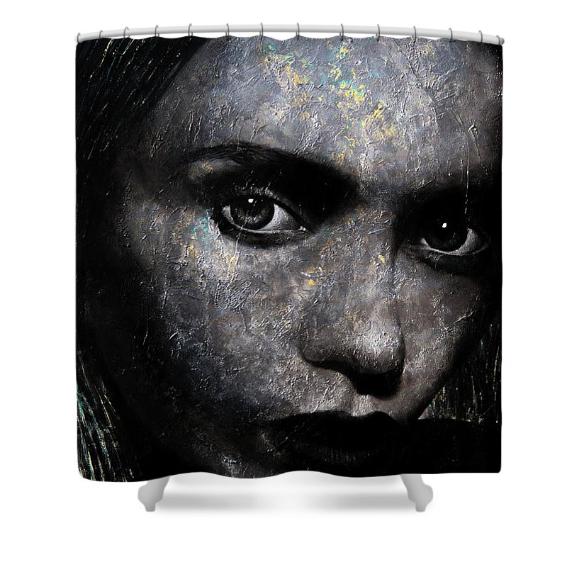 Pop Shower Curtain featuring the painting With You by Lili Leonardo