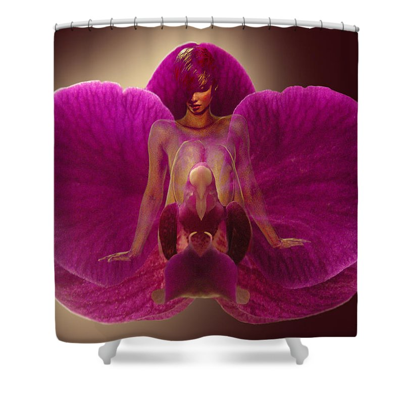 Fleurotica Art Shower Curtain featuring the digital art Within Myself by Torie Tiffany
