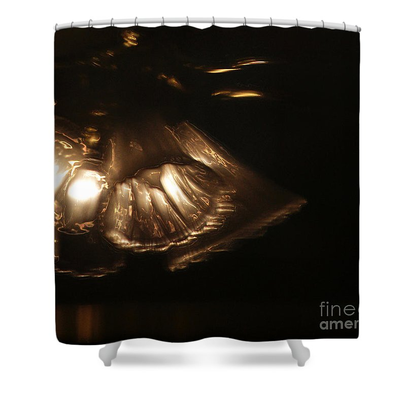 Fan Shower Curtain featuring the photograph Within These Walls by Linda Shafer