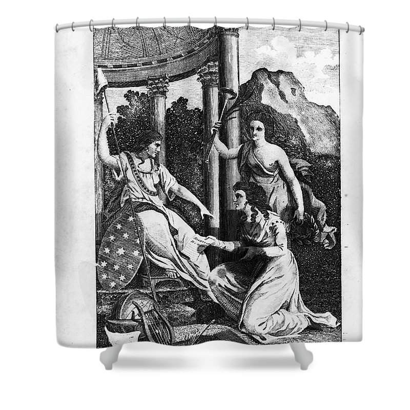 1792 Shower Curtain featuring the photograph Womens Rights, 1792 by Granger