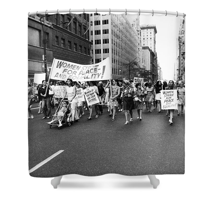 1970 Shower Curtain featuring the photograph Womens Rights, 1970 by Granger