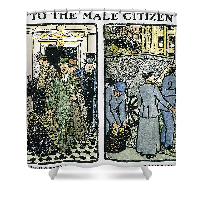 America Shower Curtain featuring the photograph Womens Rights, C1910 by Granger
