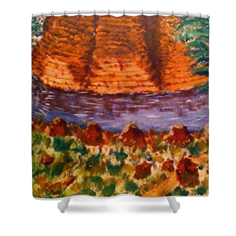Nature Shower Curtain featuring the painting Wonder by R B