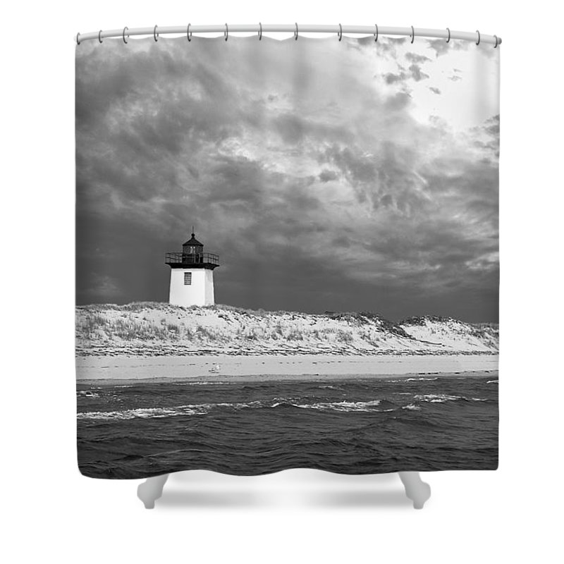 Provincetown Shower Curtain featuring the photograph Wood End Lighthouse Provincetown by Charles Harden