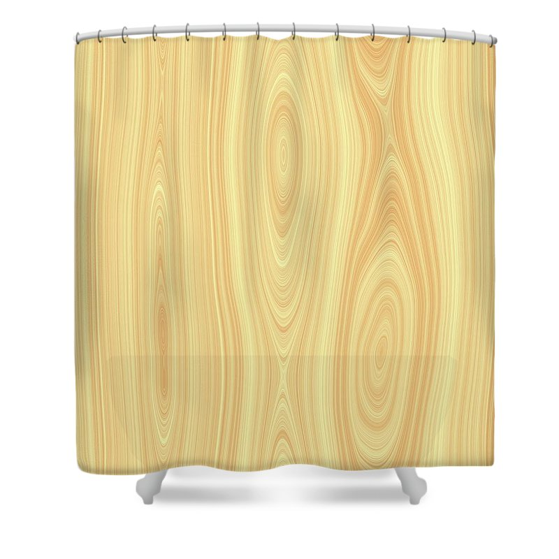 Wood Shower Curtain featuring the digital art Wood Texture by Hamik ArtS