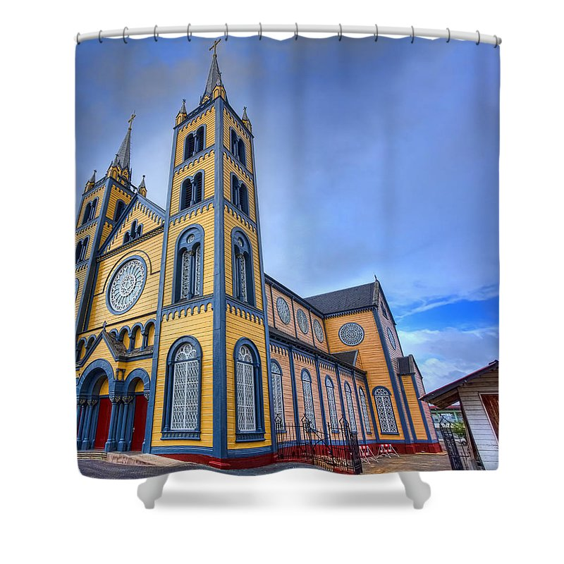 Church Shower Curtain featuring the photograph Wooden Cathedral by Nadia Sanowar