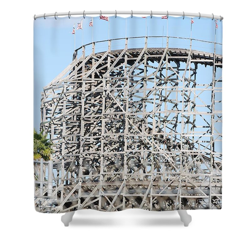 Pop Art Shower Curtain featuring the photograph Wooden Coaster by Rob Hans