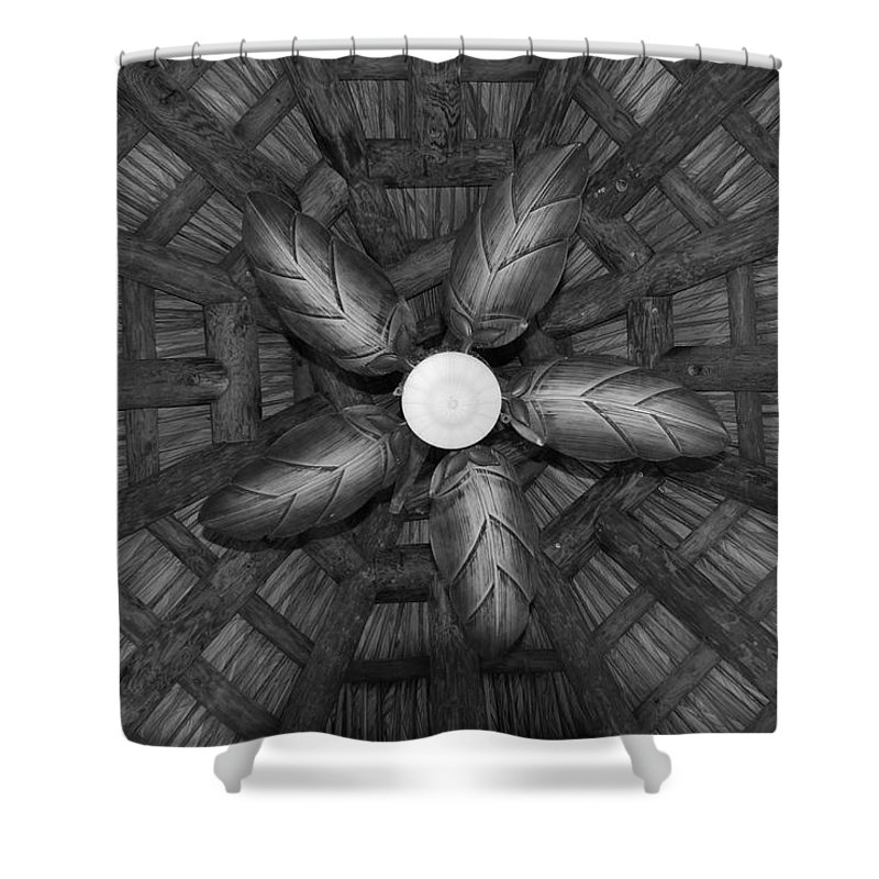 Fan Shower Curtain featuring the photograph Wooden Fan by Rob Hans