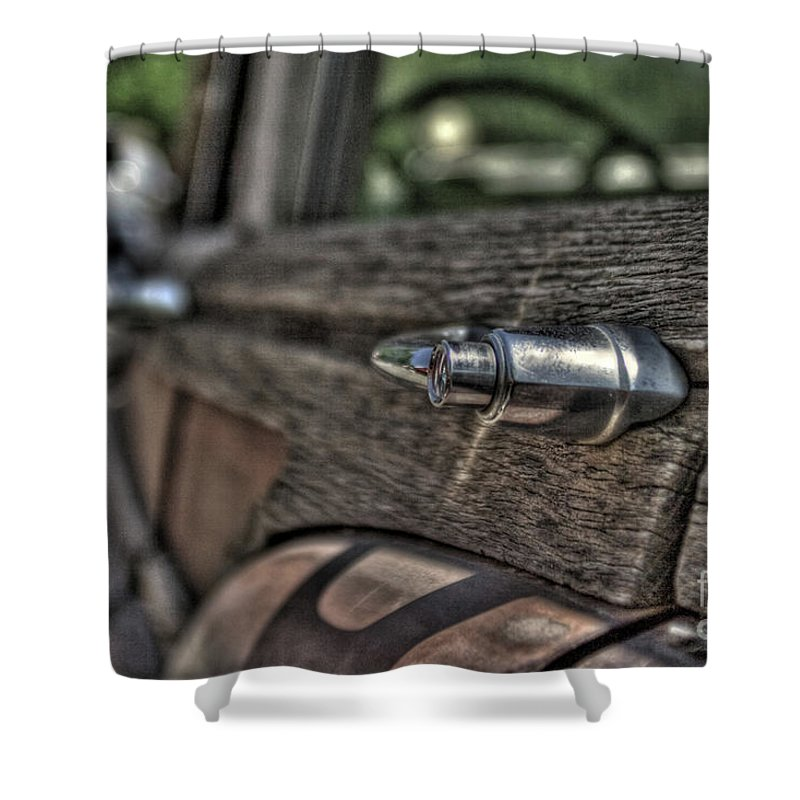 Shower Curtain featuring the photograph Woody by Shawn Ripley
