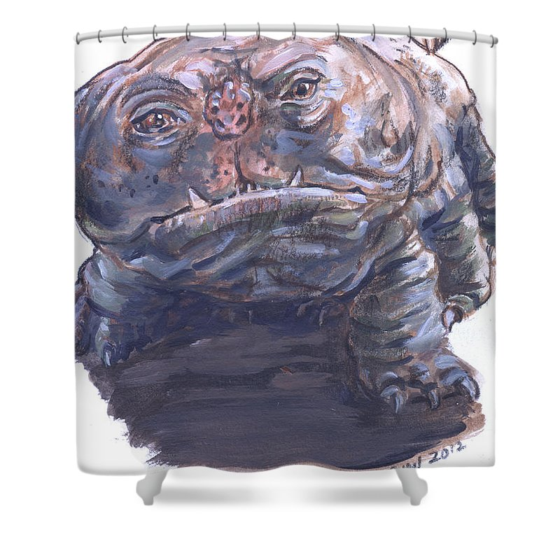 Woola Shower Curtain featuring the painting Woola by Bryan Bustard