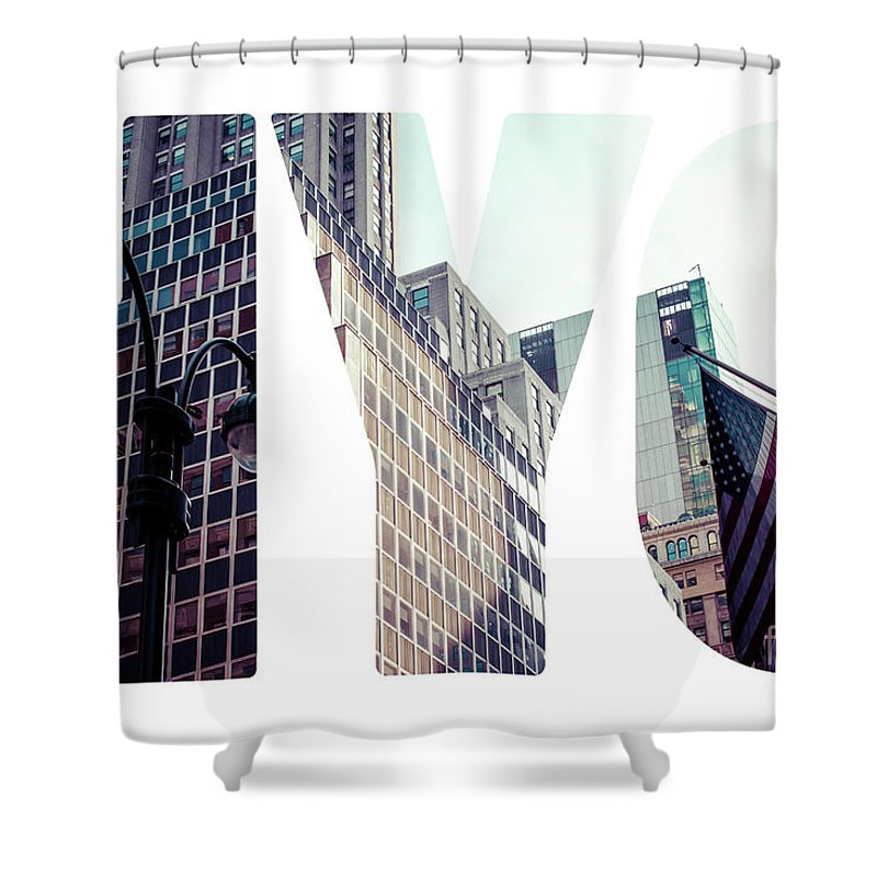 Aerial Shower Curtain featuring the photograph Word Nyc Manhattan Skyline At Sunset, New York City by Mariusz Prusaczyk