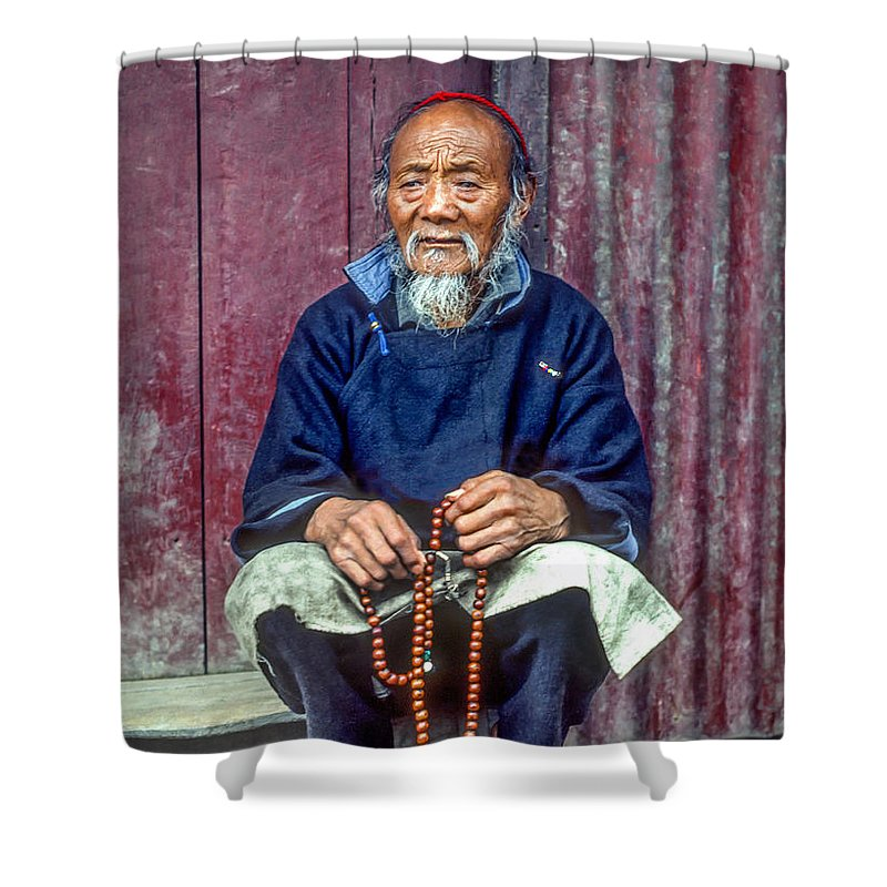 Tibetan Shower Curtain featuring the photograph Working Hands by Steve Harrington
