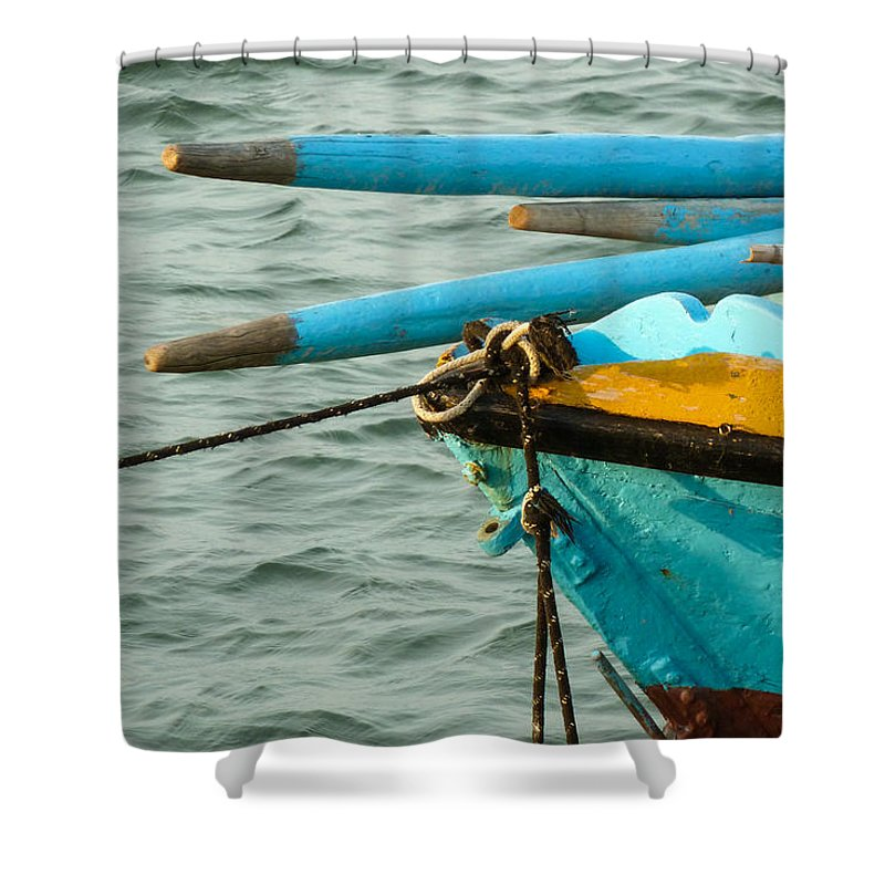 Photography Shower Curtain featuring the photograph Works Of The Journey I16 by Andreas Theologitis