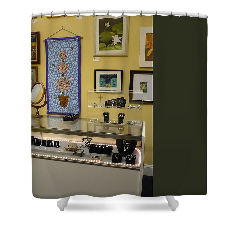 Oil Shower Curtain featuring the painting World-view by Sergey Ignatenko