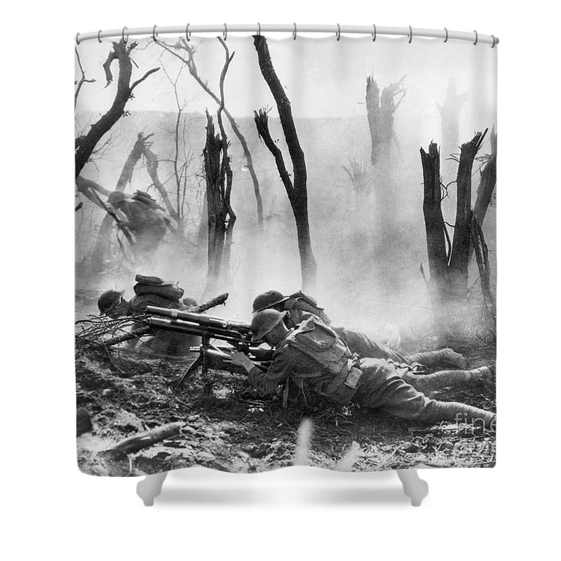1918 Shower Curtain featuring the photograph World War I: Battlefield by Granger