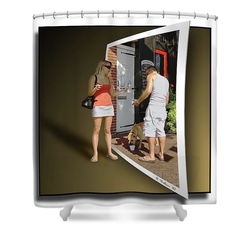2d Shower Curtain featuring the photograph Worlds Apart by Brian Wallace