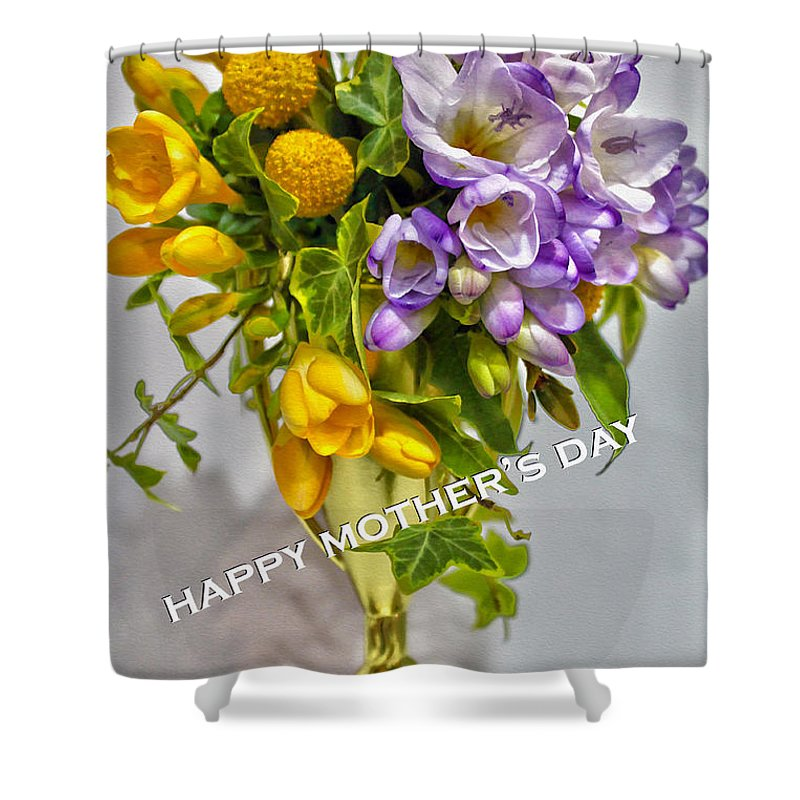 Nina Silver Shower Curtain featuring the photograph World's Greatest Mom Mother's Day Card by Nina Silver