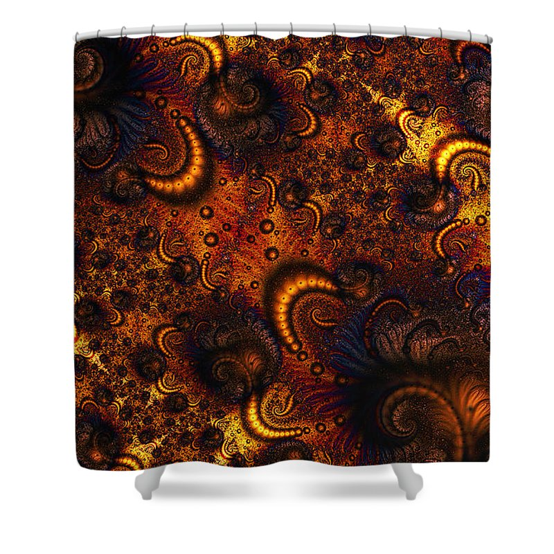 Clay Shower Curtain featuring the digital art Worm Infestation by Clayton Bruster