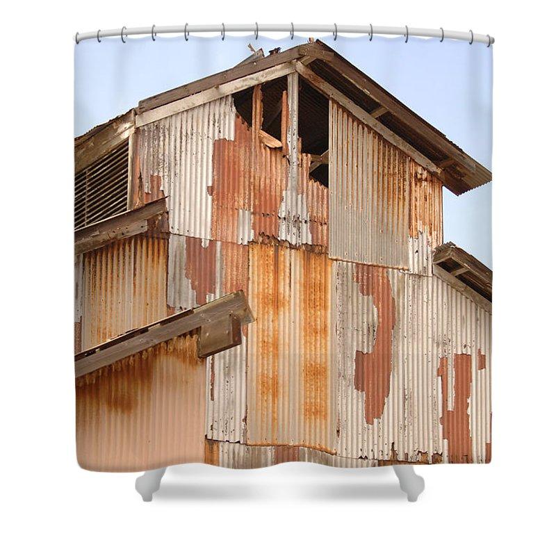 Urban Shower Curtain featuring the photograph Worn Down by Jill Reger